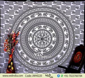 Elephant Box Print Mandala Tapestry