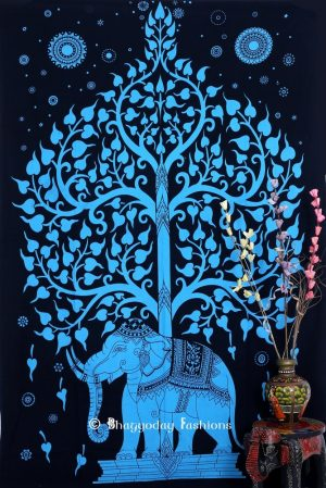 Buy Ferogi Color Elephant Tree Tapestry Wall Hangings for Living Room-0