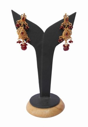 Elegant Polki Earrings in Chandelier Style for Fashionable Women-0