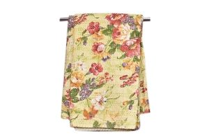 Buy Gorgeous Greenish Floral Design Bed Sheets From India-0