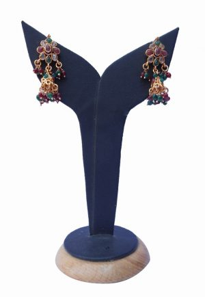 Latest Design Jhumka Style Polki Earrings from India for Fashionable Girls-0