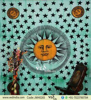 Bohemian Sun and Moon Wall Tapestry
