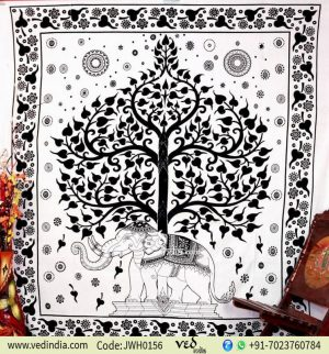 Lucky Trunk Elephant Mandala Tapestry