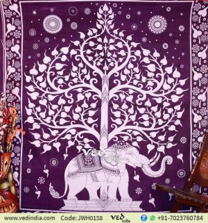 Lucky Elephant Tapestry From India