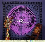 Pink and Purple Sun and Moon Tapestry