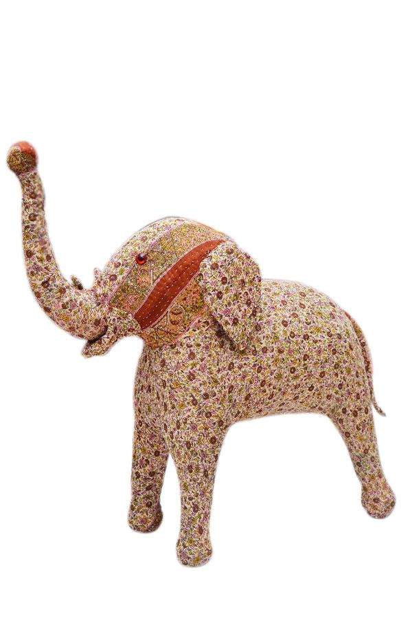 Stylish Designer Plush Stuff Elephant With Beautiful Patchwork-0