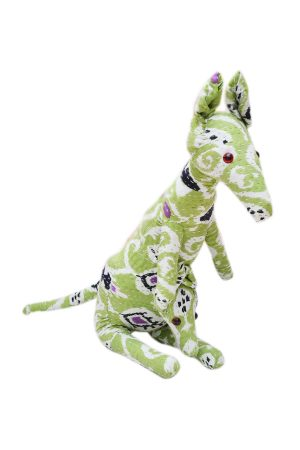 Beautiful Plush Stuffed Decorative Kangaroo With Green And White Designs-0