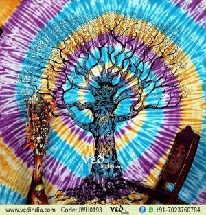Colorful Tree of Life Tapestry