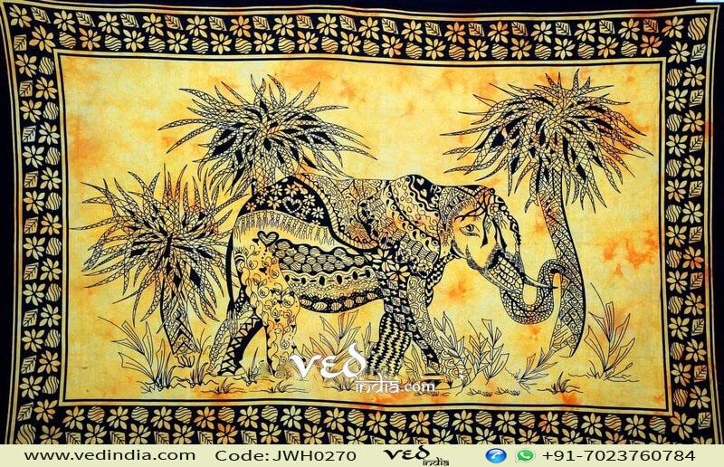 Designer Vintage Elephant Tapestry