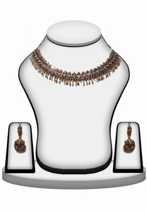 Attractive Fashion Victorian Necklace Set with Earrings for Girls -0