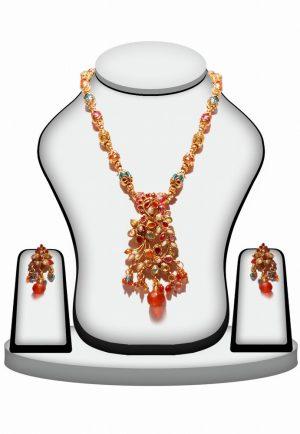 Buy Online Fashion Polki Pendant Set For Women in Multicolor Stone-0