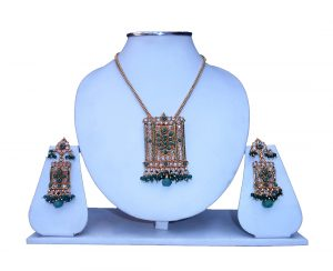 Buy Online Women's Matching Pendant Set with Earrings from India-0