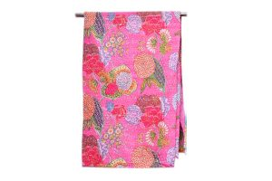 Gorgeous Cheap Handmade Bed Sheet In Pink With Beautiful Designs-0