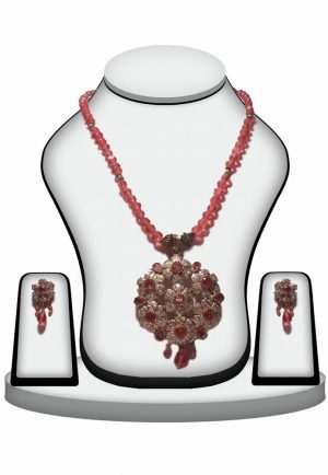 Exquisite Fashion Victorian Pendant Setin Red Beads-0