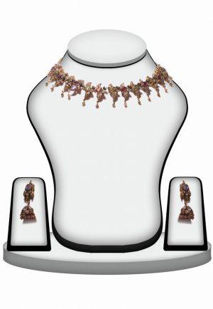 Fashion Victorian Necklace Set for Women in Multicolor Stones-0