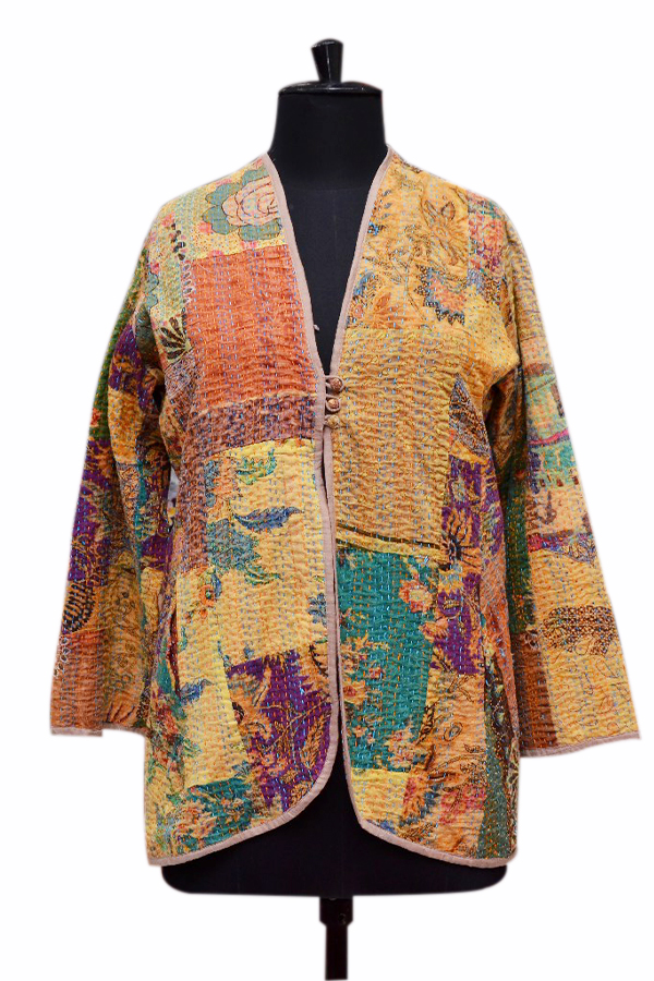 Buy Fashionable Colorful Print Designer Girls Quilted Jackets-0