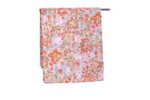 Latest Designs White Brownish Floral Printed Handmade Bed Sheets-0