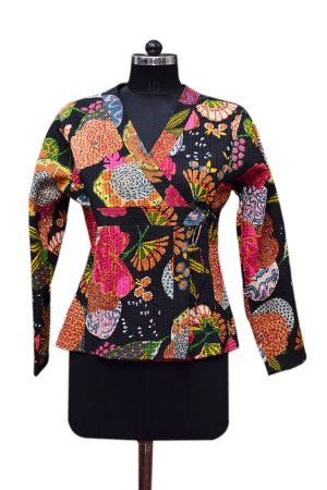 Latest Designs Floral Patterns Handmade Quilted Jackets For Women-0