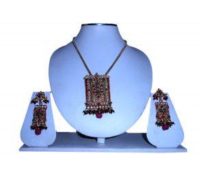 Buy Designer Women's Matching Pendant Sets with Earrings in Polki Stones-0