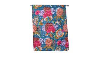 Designer Wholesale Dark Blue Printed Handmade Bed Sheets-0