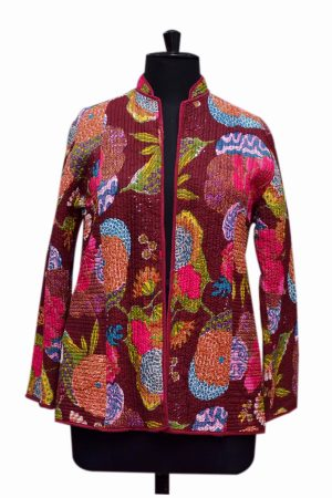 Buy Online Designer Printed Quilted Coat for Girls From India-0