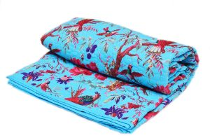 Bright Blue Fashion Quilts With Beautiful Handmade Fabric Designs-0
