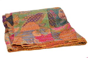 Latest Designer Cotton Quilts With Colorful Hand Stitched Pattern-0