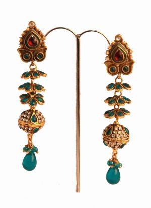 Gorgeous Fashion Earrings in Brass Metal for Special Occasions-0