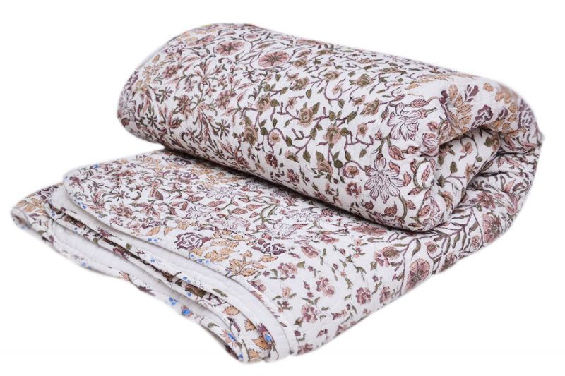 Beautiful Floral Bedding Quilts Wholesale With Handmade Design-0
