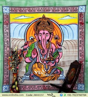 Indian Lord Ganesha Tapestry
