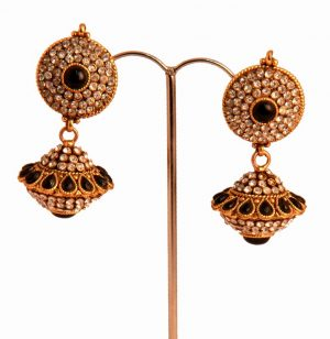 Latest Design Fancy Earrings from India in Brass Metal for voguish women-0