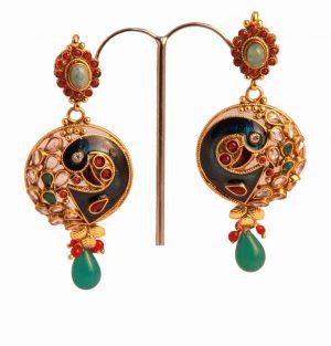Shop Online Party Wear Peacock Style Designer Earrings -0