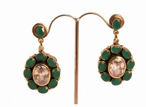 Shop Online Gorgeous Coral and CZ Earrings for Stylish Women-0