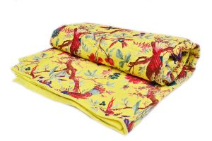 Buy Wholesale Bright Yellow Color Quilts With Beautiful Design-0