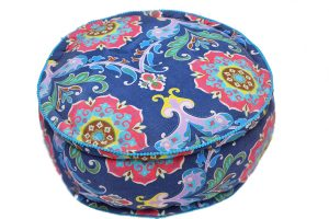 Shop Online Cheap Blue Round Footstool With Royal Designs-0