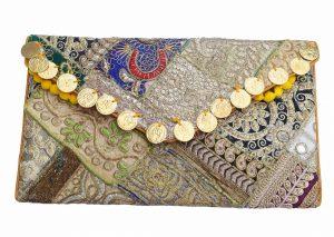 Ethnic Designer Handmade Antique Boho Clutch Purse for Women-0