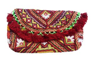 Designer Multicolor Embroidered Handmade Ladies Mirror Clutch Bag -0