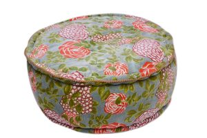 Buy Greenish Floral Designs Home Decorative Ottomans From India-0