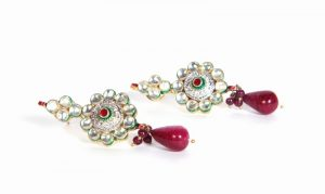 Hottest Design Fashion Earrings in White Stones for Weddings -0