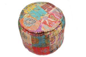 Block Printed Handmade Ottomans With Beautiful Color Combination-0
