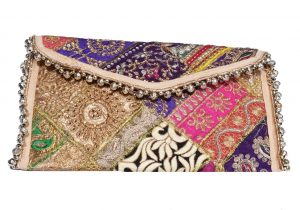 Smart Hippie Vintage Clutch Sling for Women in Multicolored with Beads -0