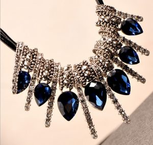 Blue Stone Studded Gypsy Bohemian Jewelry with Sparkling Embellishments-0