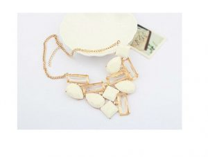 Buy Beautiful Bohemian Jewellery in White Beads and Stones -0