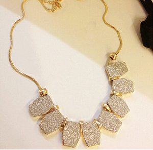 Beautiful Bohemian Necklace Jewellery with Golden Polish Chain from India-0