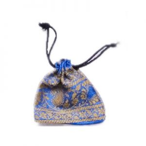 Buy Online Designer Handmade Blue Color Gift Pouches for Ladies-0