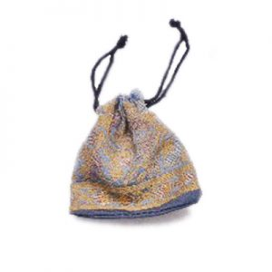 Designer Gray Indian Potli Bags With Stitched Work From India-0