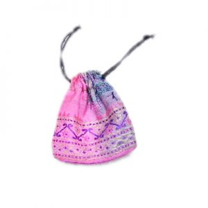 Bright Pink Hand Crafted Potli Bags With Embroidery Designs-0