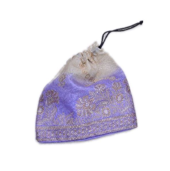 Beautiful White And Blue Color Handmade Fashion Pouches From India-0