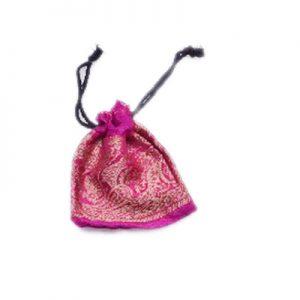 Stylish Pink Handmade Gift Pouches With Beautiful Zari Work-0