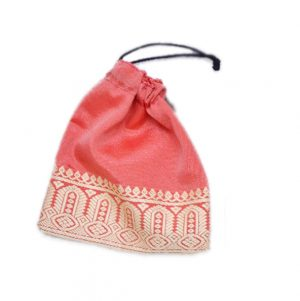 Traditional Orange Handmade Potli Bag With Beautiful Embroidery-0
